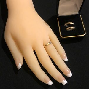 """Jewelry - """"TEXTURED BAND RING"""" - 14K GOLD"""